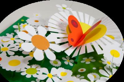 libro per bambini cartonato giardino margherite